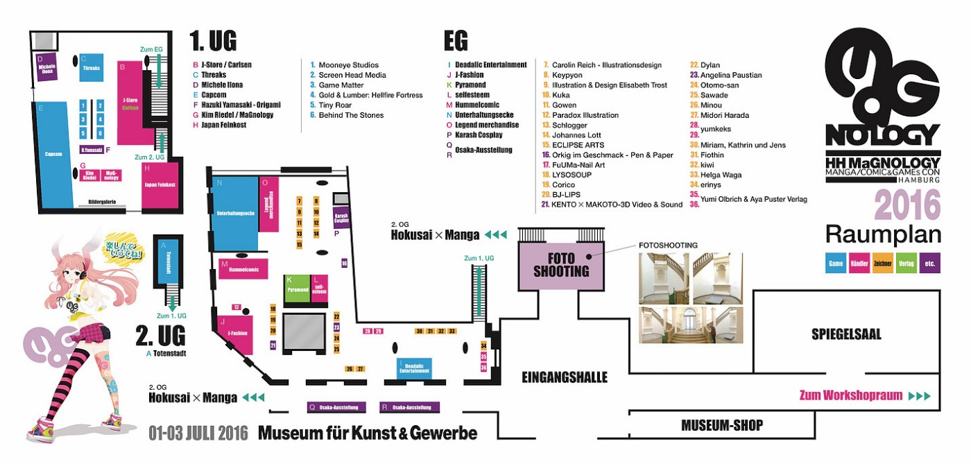 Manga Messe Hamburg Plan