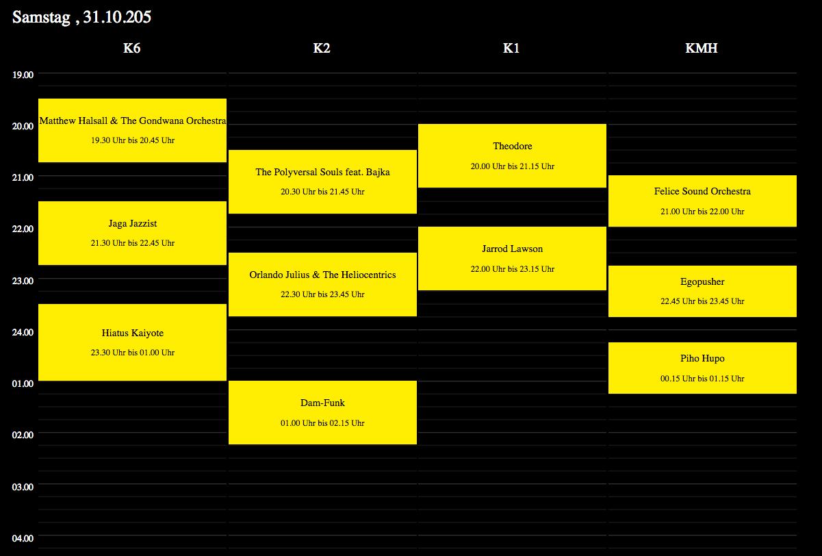 Überjazz Timetable 2