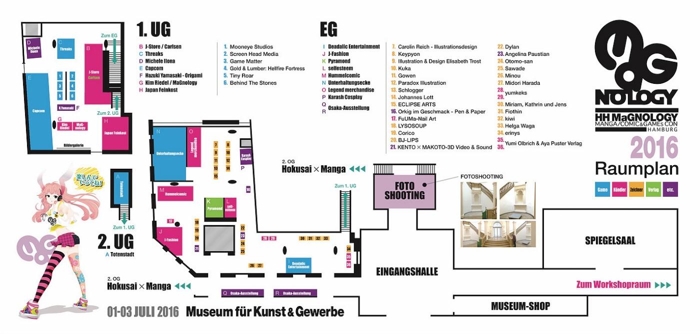 Manga Messe Hamburg Plan