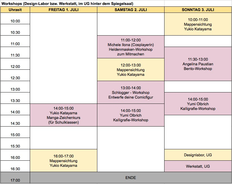 Manga Messe Hamburg Programm 2