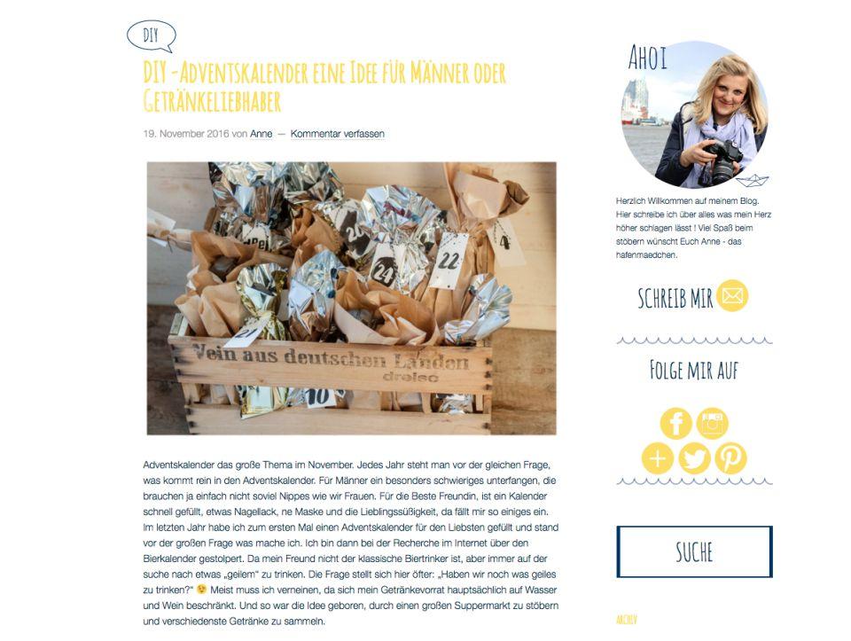 Screenshot. Blog Hafenmädchen