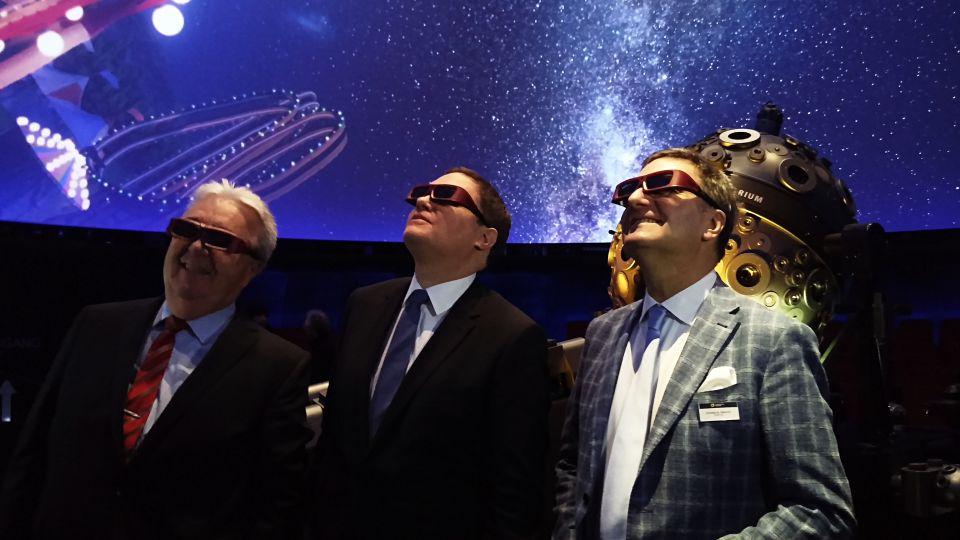 Harald Roesler, Dr. Carsten Brosda und Thomas Kraupe