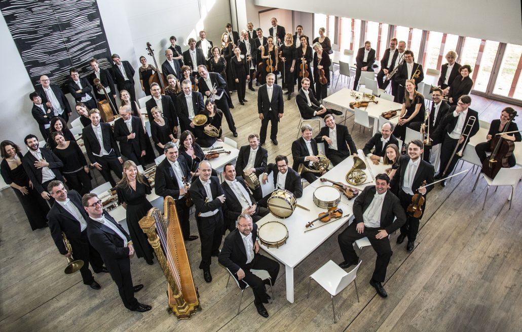 Orchester Anima Eterna von oben aufgenommen