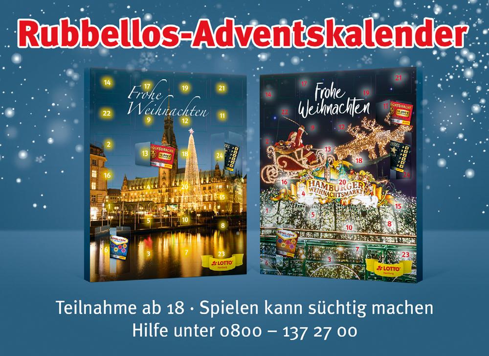 Lotto Weihnachten.Verlosung Rubbellos Adventskalender Was Ist Los In Hamburg