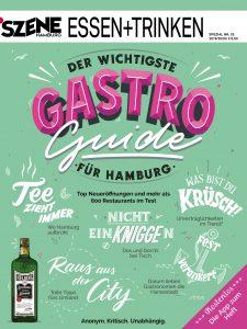Ab dem 3.4.2019 im Handel: Der neue SZENE Hamburg Gastroguide