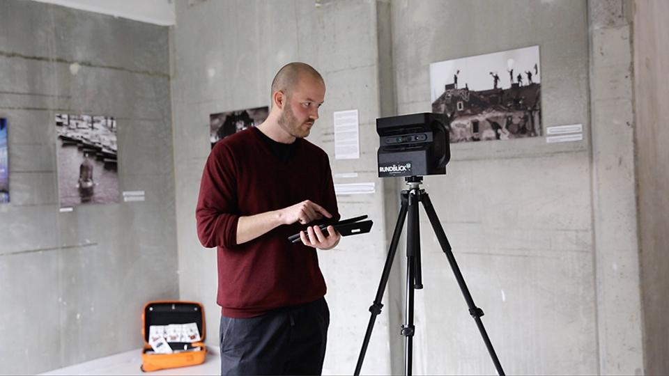 Bei der Arbeit: Alwin Brehde