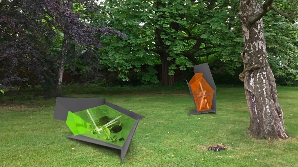 Die Kunst-Skulpturen im Park sind tagsüber kostenlos zu sehen; Foto: Iris Helena Hamers