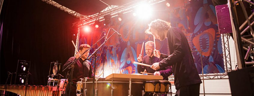Elbtonal Percussion beim Elbphilharmonie Hope 'n' Air: Foto: Andreas Hornoff