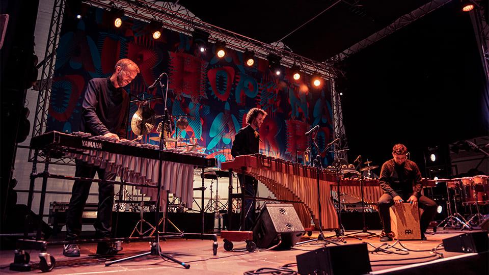 Elbtonal Percussion beim Elbphilharmonie Hope 'n' Air ©Andreas Hornoff