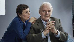Olivia Colman und Sir Anthony Hopkins beim Foto-Shoot; Foto: Tobis Embankment Films