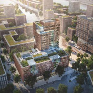 Elbside: 2023 will Vattenfall die neue Zentrale in der HafenCity; Foto: EDGE