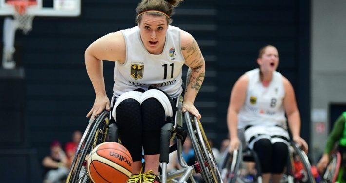 Maya Lindholm bei der Rollstuhlbasketball-WM 2018 in Hamburg; Foto: WITTERS