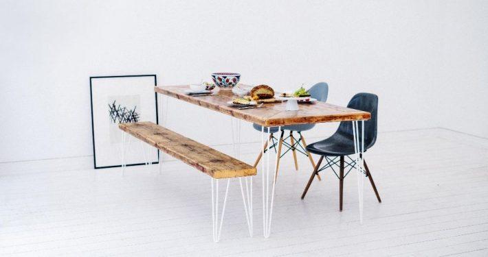 Neues Leben für alte Gerüstbohlen: Tisch und Bank Oskar von 10Knoten sind die All-Time-Lieblinge; Foto: 10Knoten