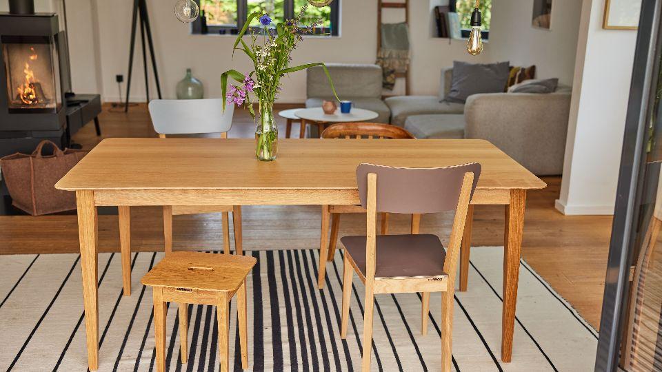 Ein nachhaltiger Esstisch von Hafenholz; Foto: Hafenholz