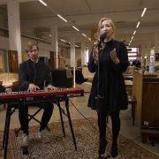 """Auch Miu war mit ihrem neuen Song """"The Reminder"""" zu Gast bei N Klub – die Show im Stilbruch Altona; Foto: Still/Gute Leude Fabrik"""