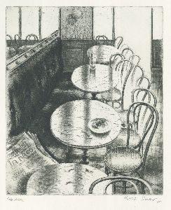 """""""Cafétische im Licht"""" von Rolf Escher; Foto: Rolf Escher/shmh"""