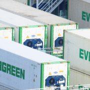 Das größte Containerschiff der Welt gehört zu Evergreen aus Taiwan; Foto: Unsplash/Ari Ara