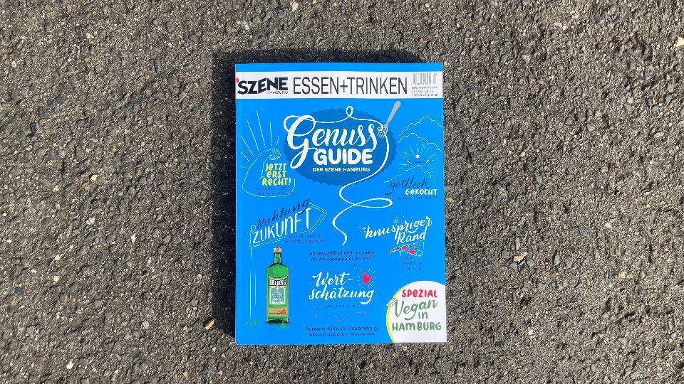 Der Genuss-Guide von SZENE HAMBURG ist wieder da, jetzt am Kiosk und im gut sortierten Buchhandel (Foto: Felix Willeke)